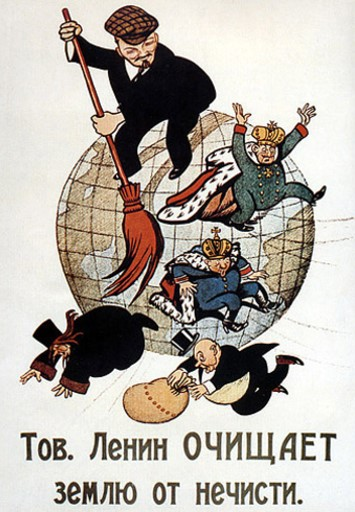 Caricatura de Lenin