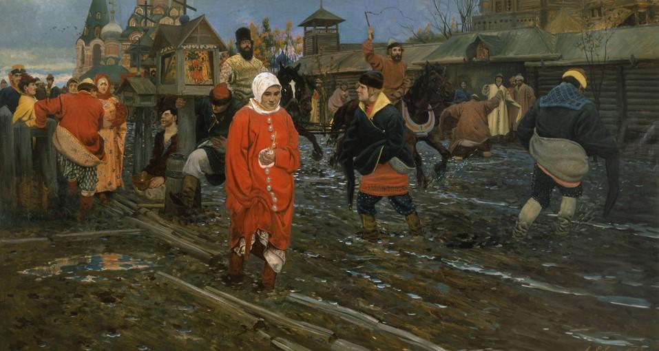 Aspecto del Moscú en el S. XVII