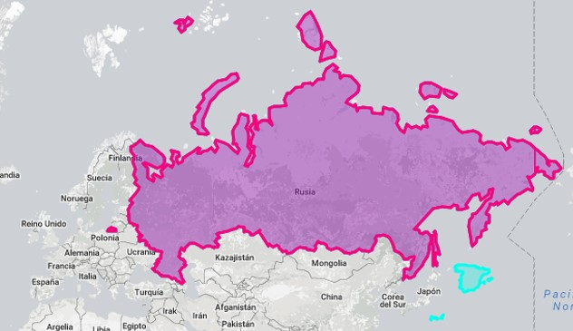 Superficie de Rusia