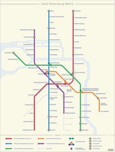 mapa metro san petersburgo