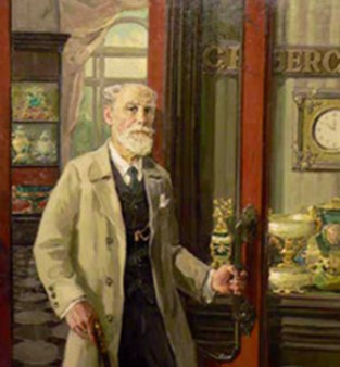 Carl Fabergé en un retrato