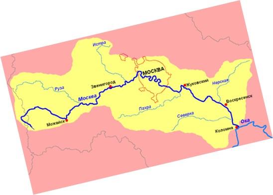 cuenca hidrográfica del rio moscova