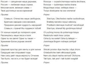 himno de rusia original y con transliteracion