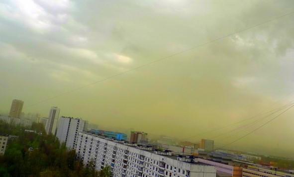 nubes de polen en moscu
