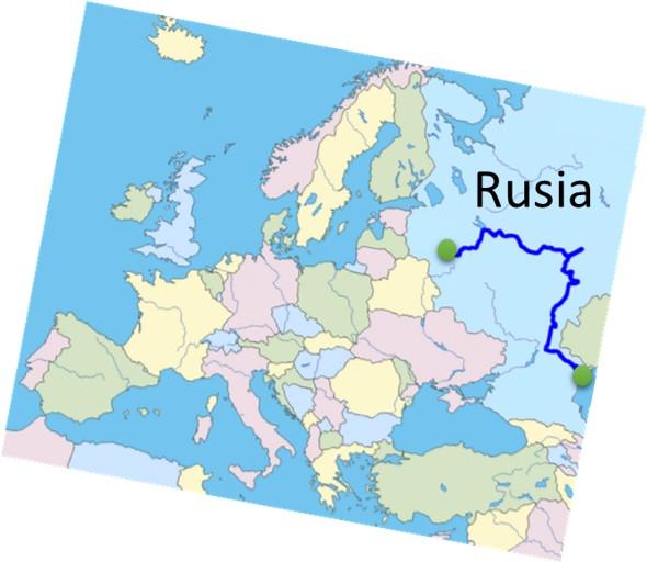 que paises atraviesa el rio volga