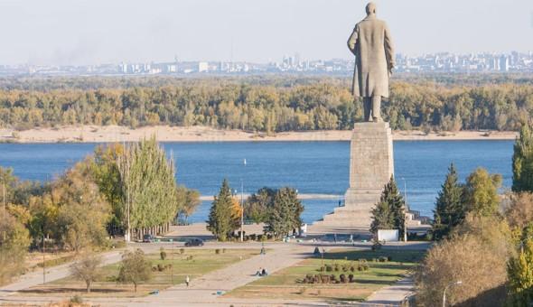 volgogrado con estatua de lenin