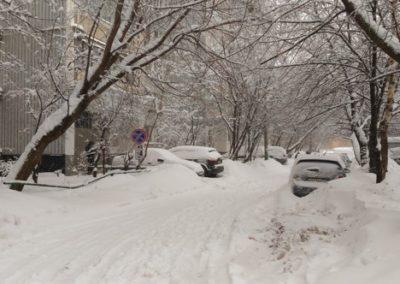 Una calle en el distrito de Ismaylovo