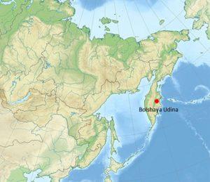 localizacion del volcan bolshaya udina